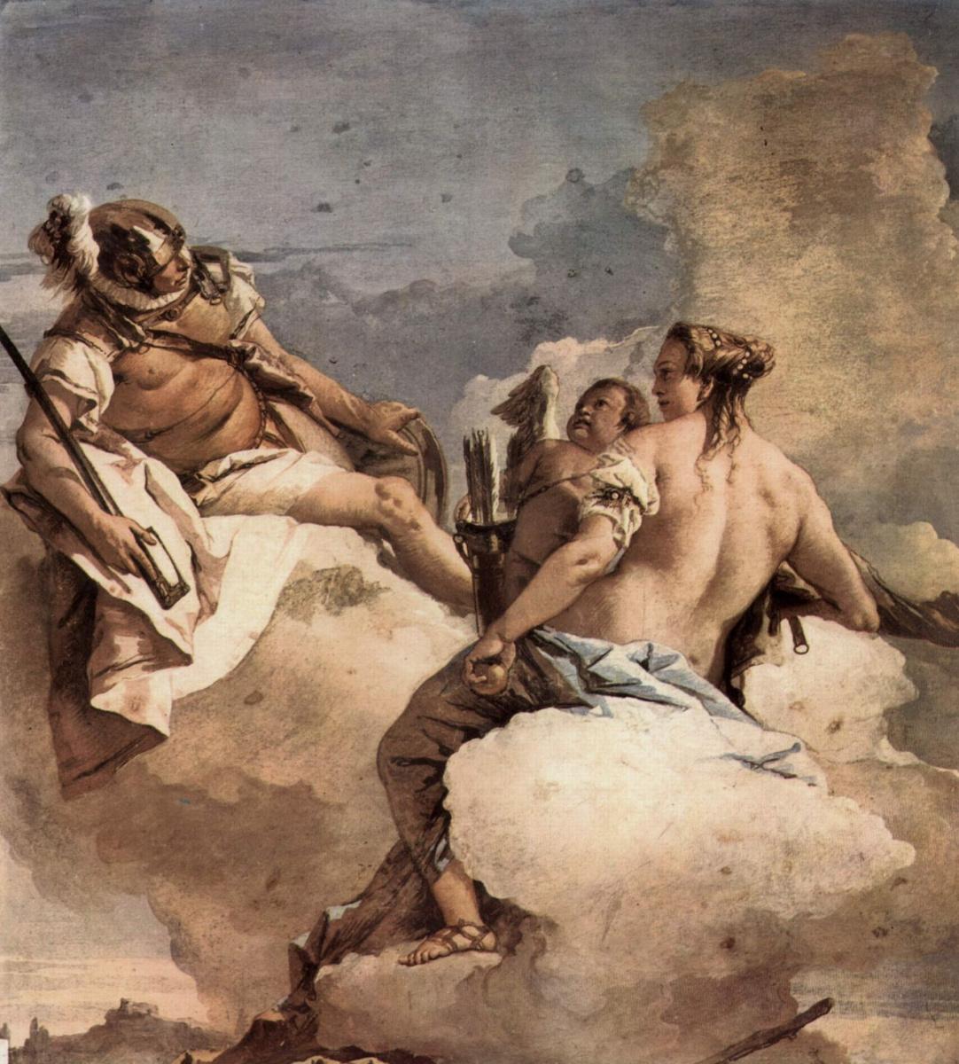 Джованни Баттиста Тьеполо. Марс, Венера и Амур. Фрески из виллы Валлмарана, Виченца