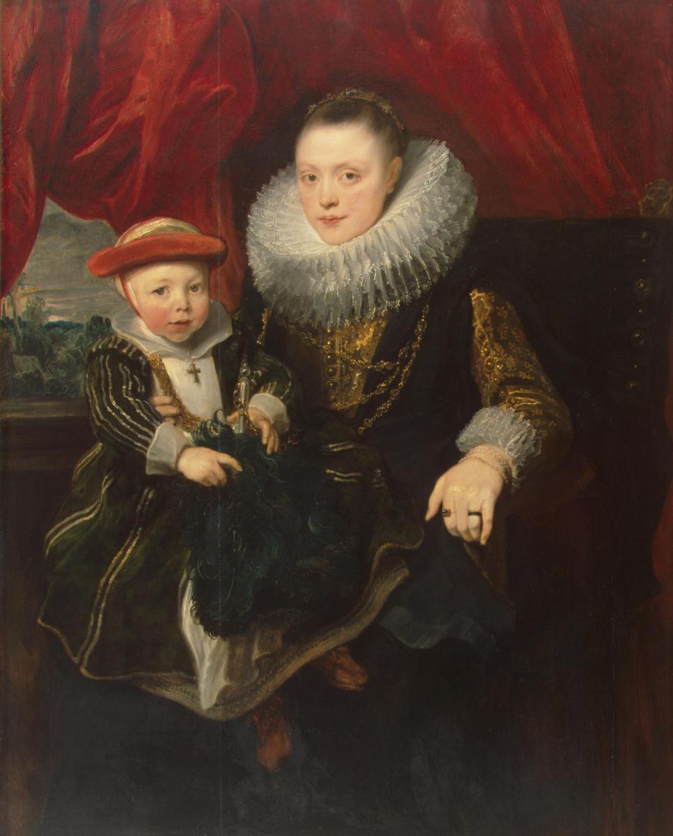Антонис ван Дейк. Портрет молодой женщины с ребёнком