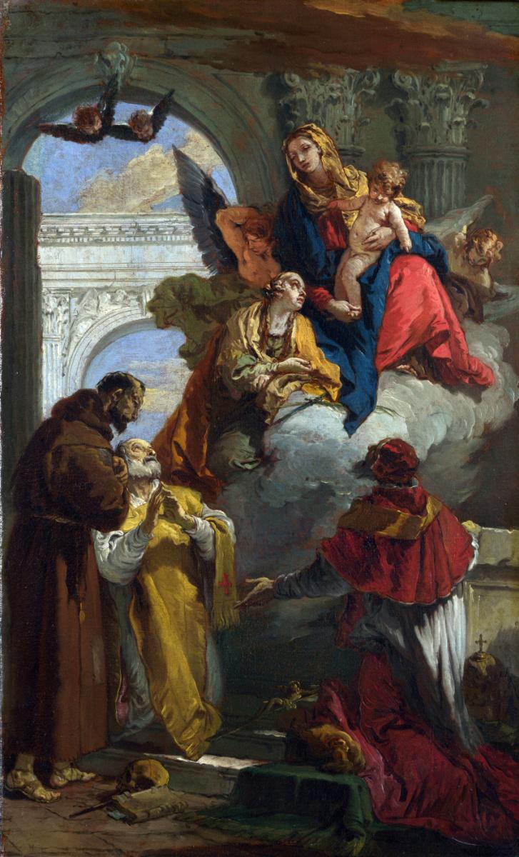 Джованни Баттиста Тьеполо. Явление группы святых
