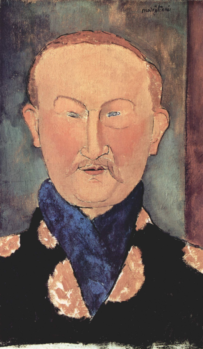 Амедео Модильяни. Портрет Леона Бакста