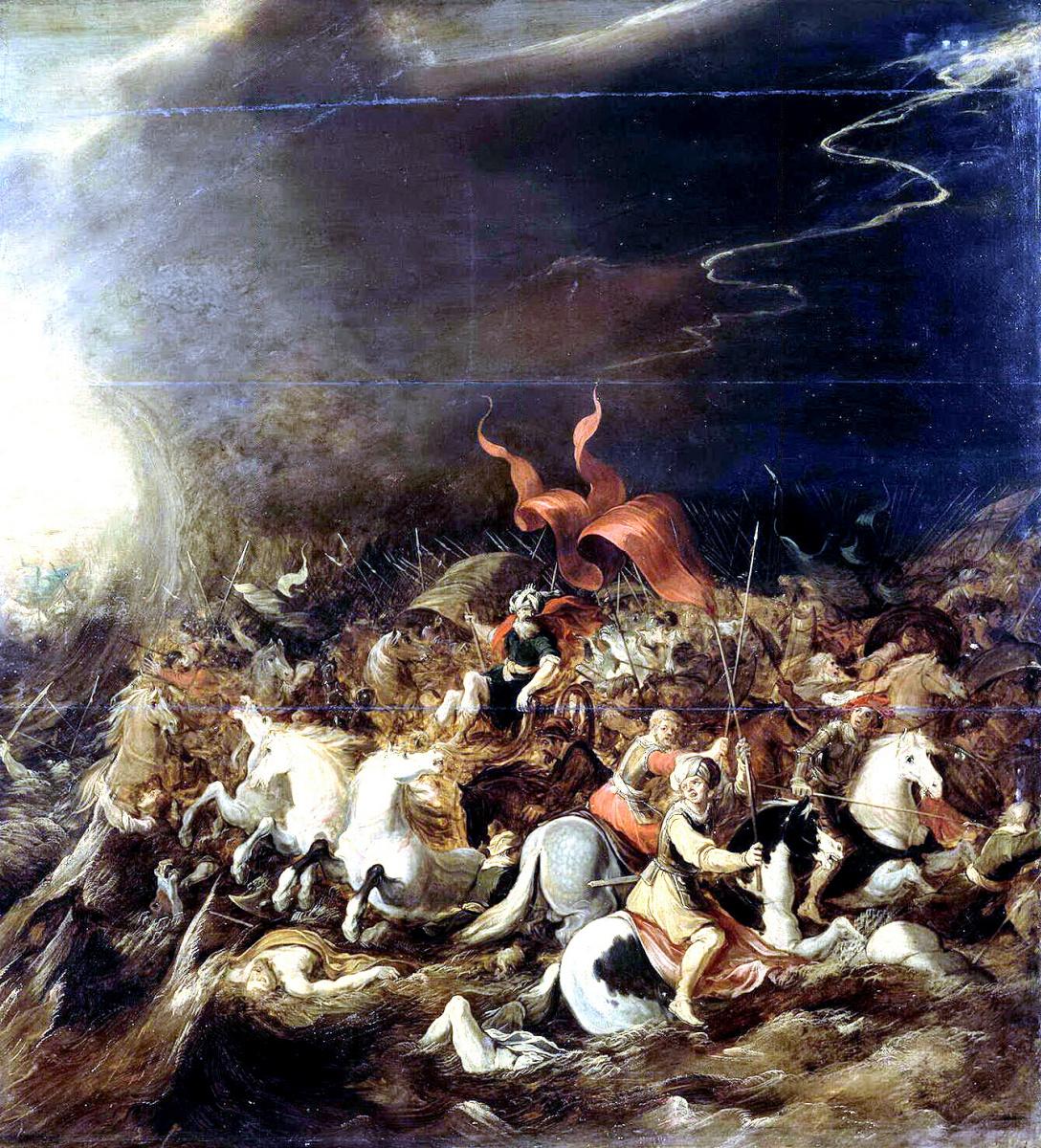 Ханс III Момпер Иос де Йорданс. Гибель фараона в Чермном море