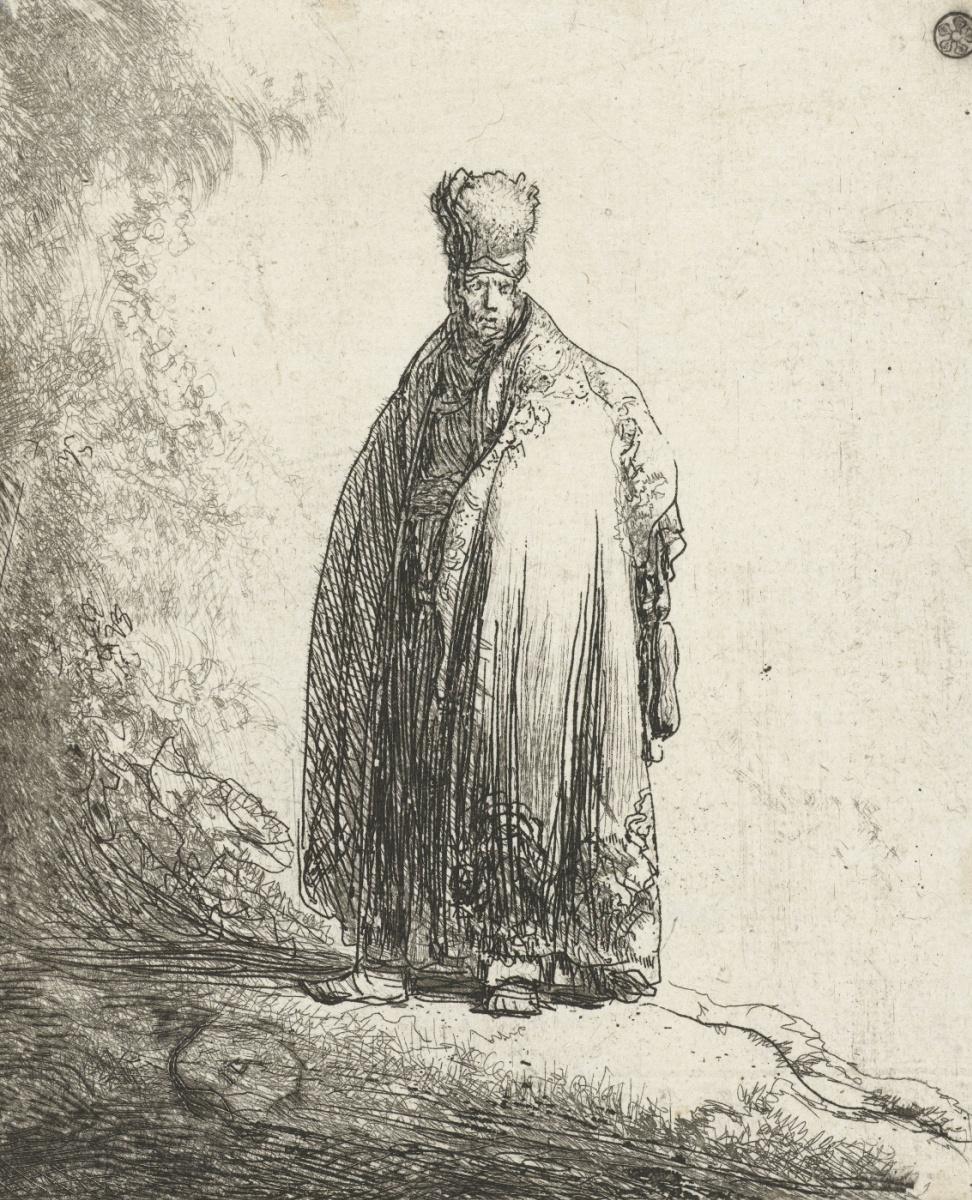 Ян Ливенс. Портрет мужчины в восточной одежде