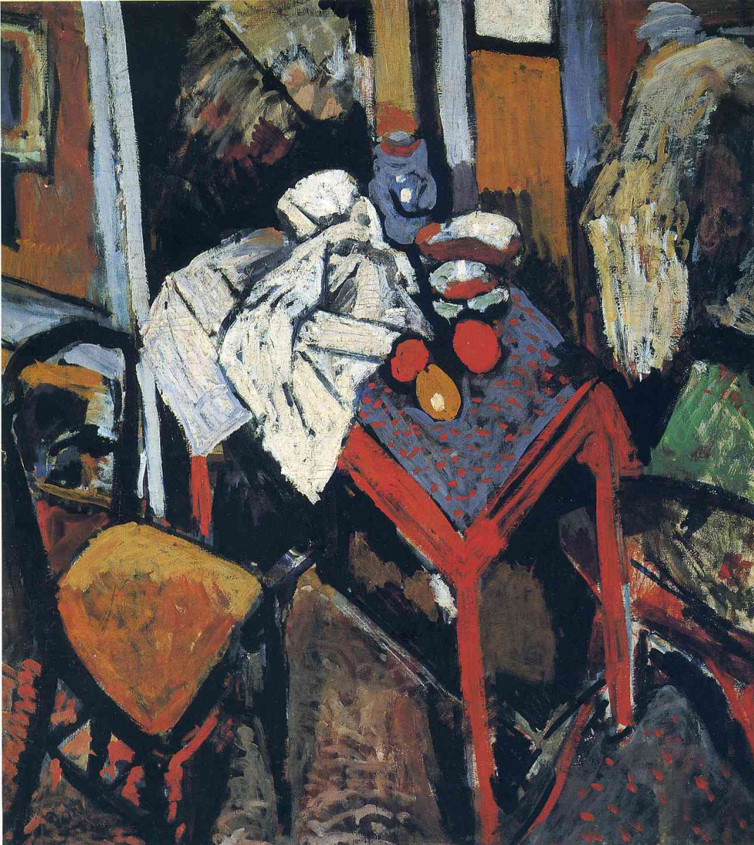 Andre Derain. Still life on a red table