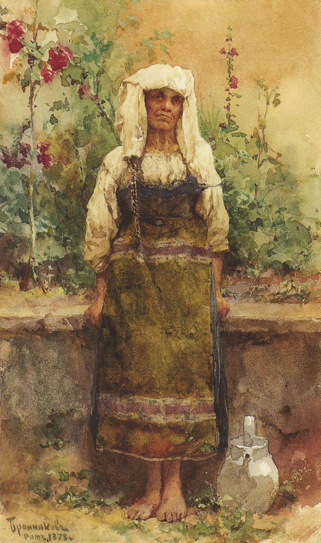 Федор Андреевич Бронников. Старуха-итальянка