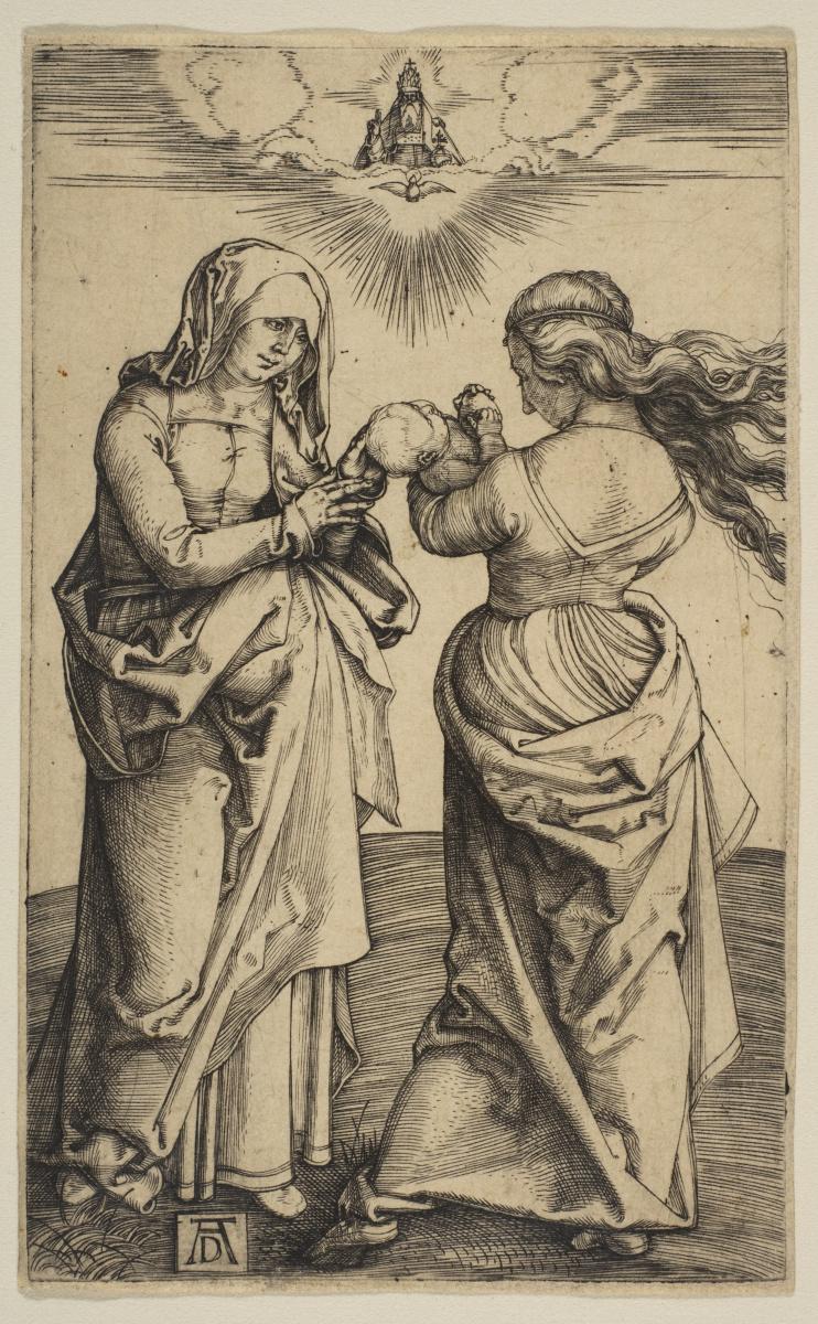 Альбрехт Дюрер. Богоматерь с младенцем Христом и Святой Анной