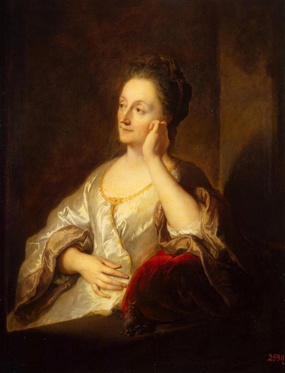 Жан Франсуа Де Труа. Портрет жены художника Жанны де Труа