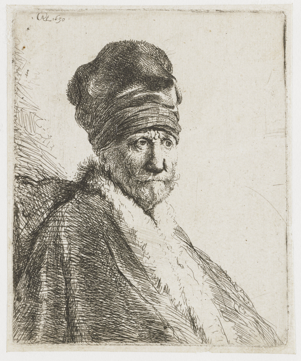 Рембрандт Харменс ван Рейн. Человек в высокой шапке (отец Рембрандта?)