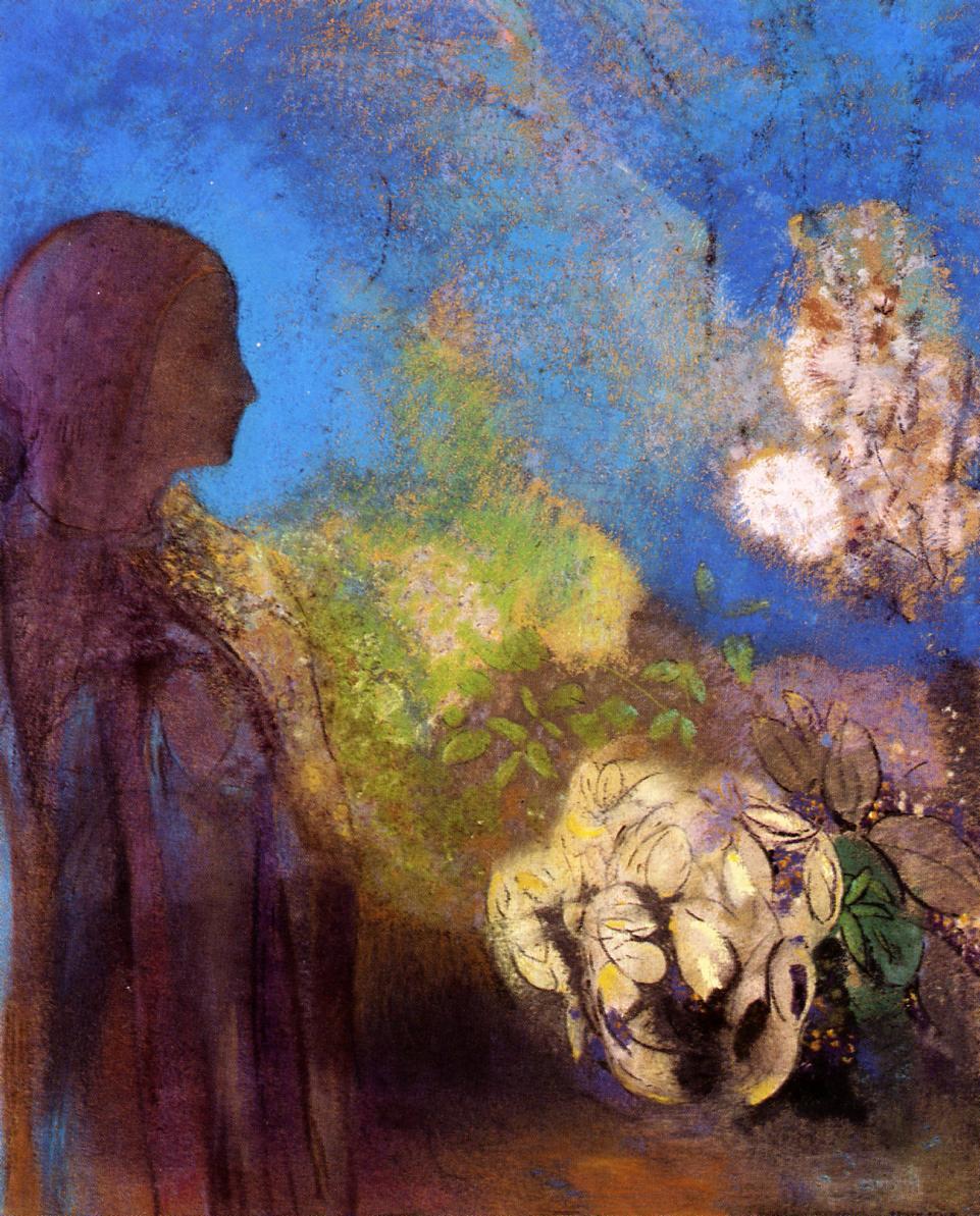 Одилон Редон. Девушка с хризантемами
