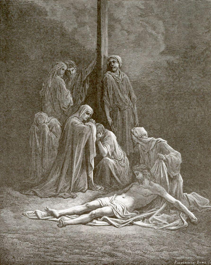 Поль Гюстав Доре. Взяли тело Иисуса и обвили его пеленами