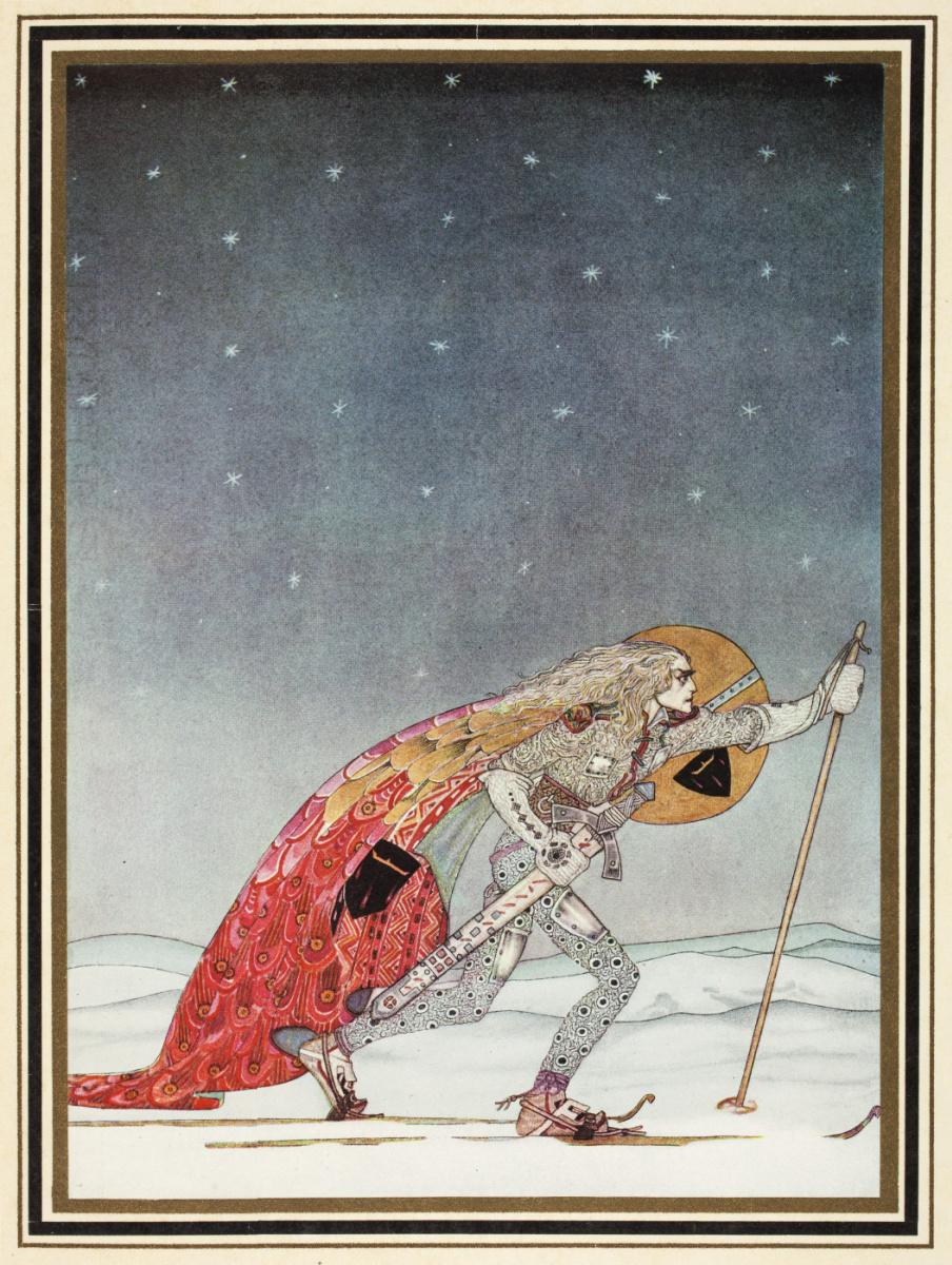 """Кей Нильсен. Иллюстрация к сборнику сказок """"На восток от солнца, на запад от луны"""""""