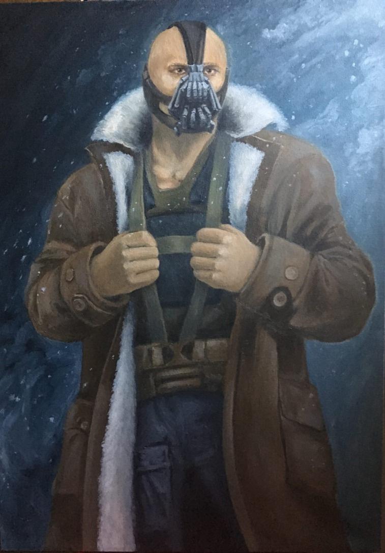"Sandalova Alena. Art ""Bane"" (The Dark Knight Film)"