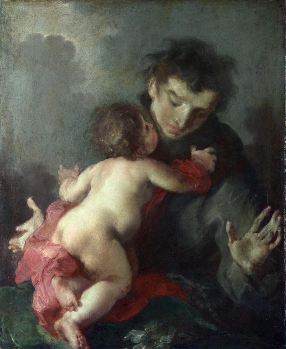 Баззани Джузеппе. Святой Антоний Падуанский с младенцем Христом