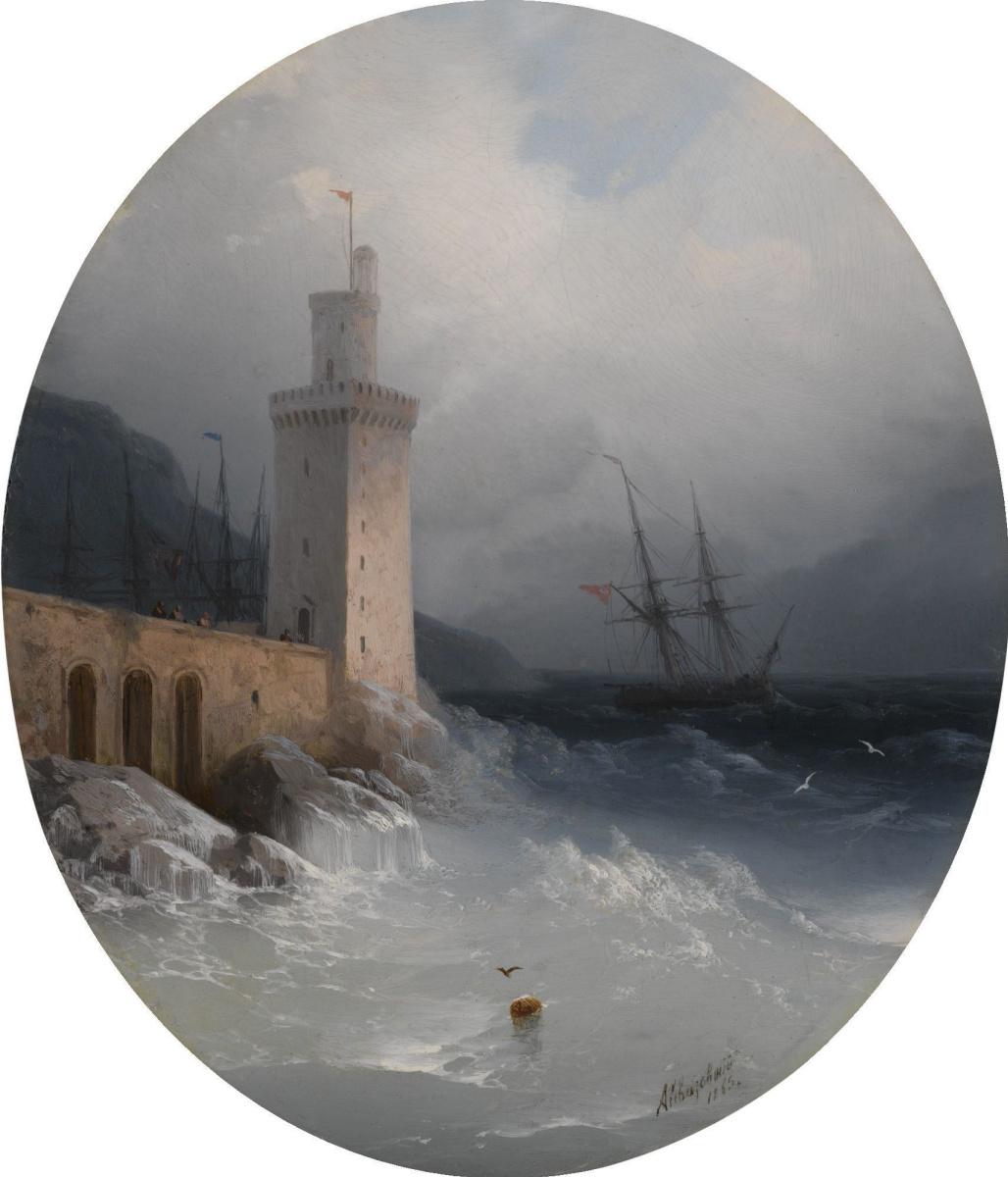 Ivan Aivazovsky. View of the Amalfi coast