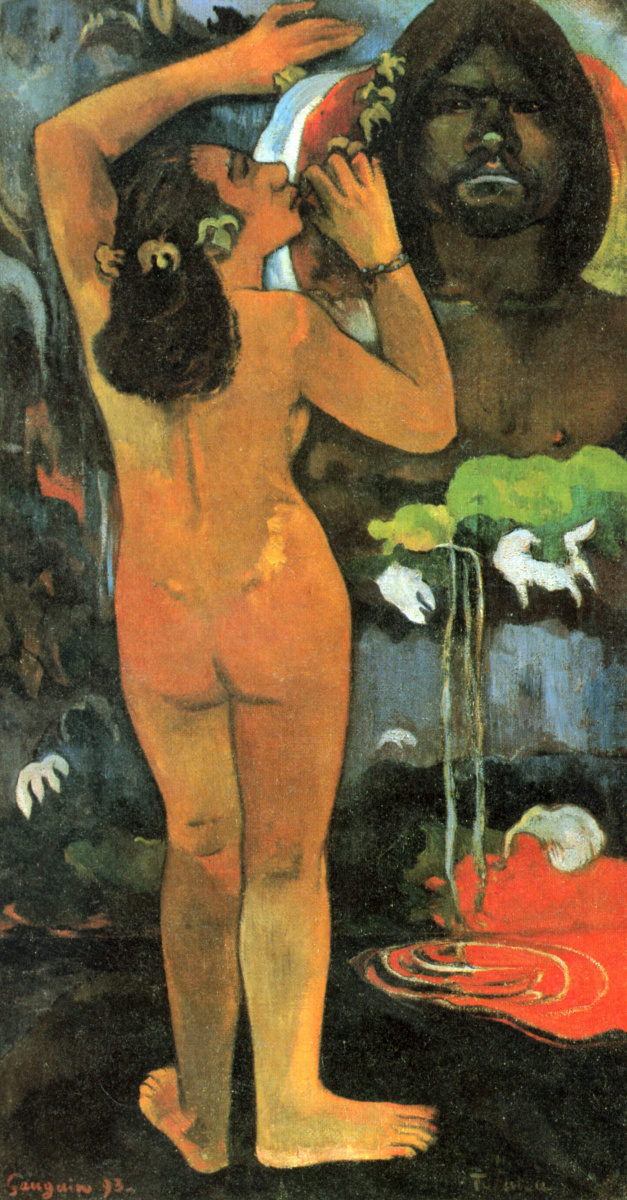 Поль Гоген. Хина, богиня луны и Те Фату, дух земли