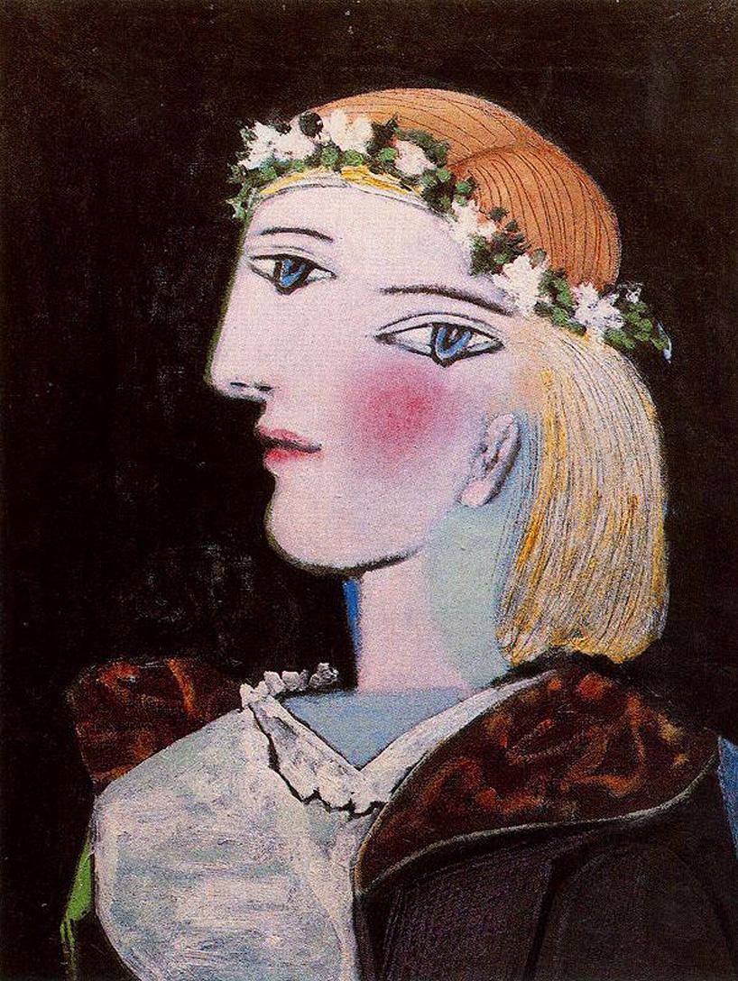 Пабло Пикассо. Портрет Мари-Терез Вальтер с венком