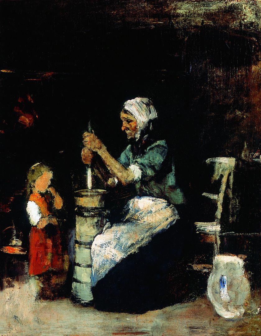 Михай Либ Мункачи. Женщина, взбивающая масло. Эскиз