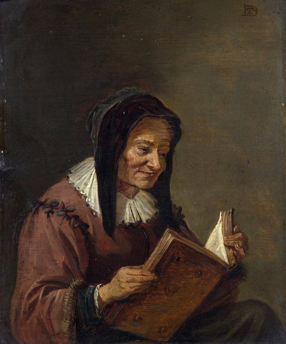 Давид Тенирс Младший. Старая женщина читает