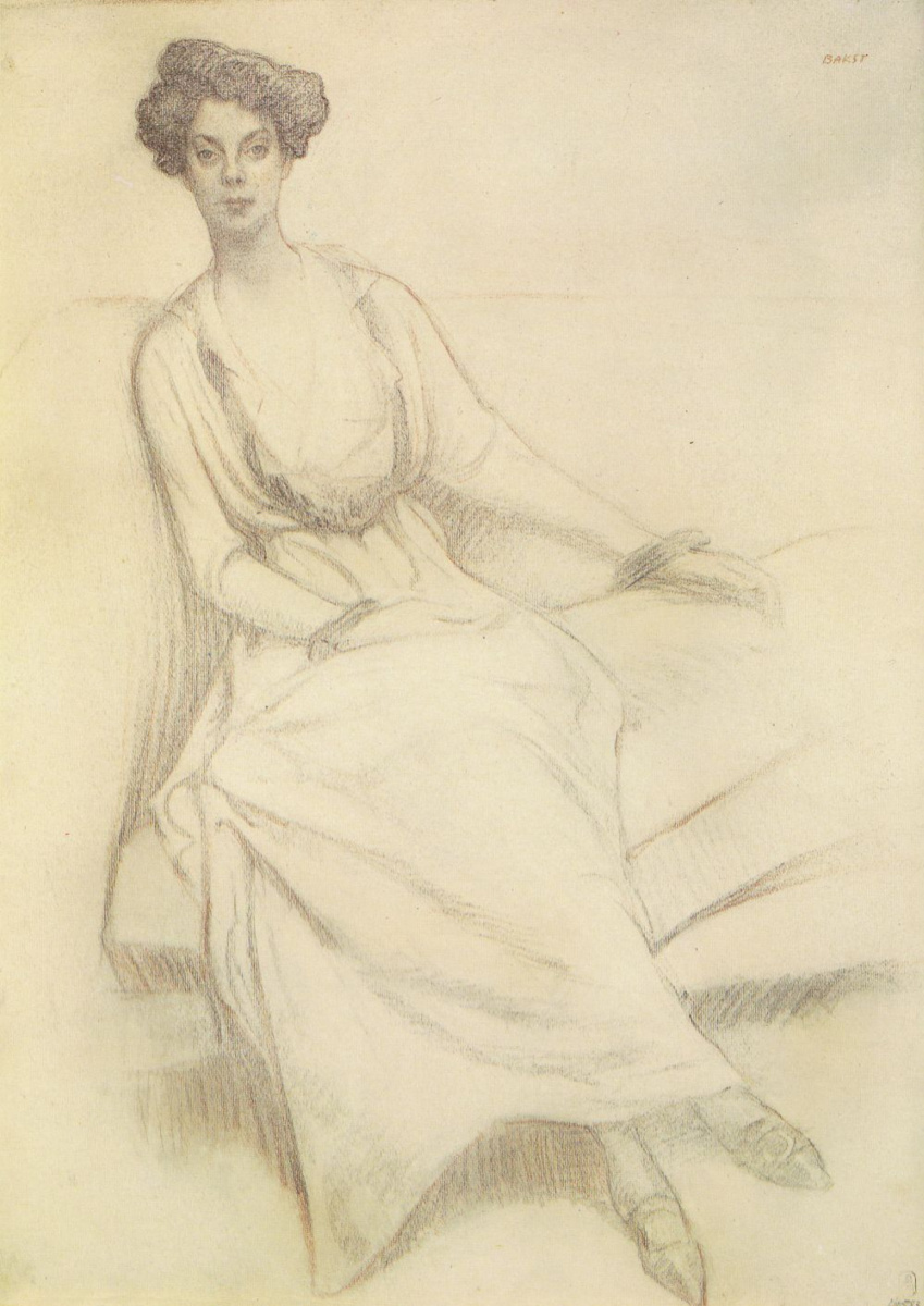 Lev Samoilovich Bakst (Leon Bakst). Portrait of Princess Olga Orlova