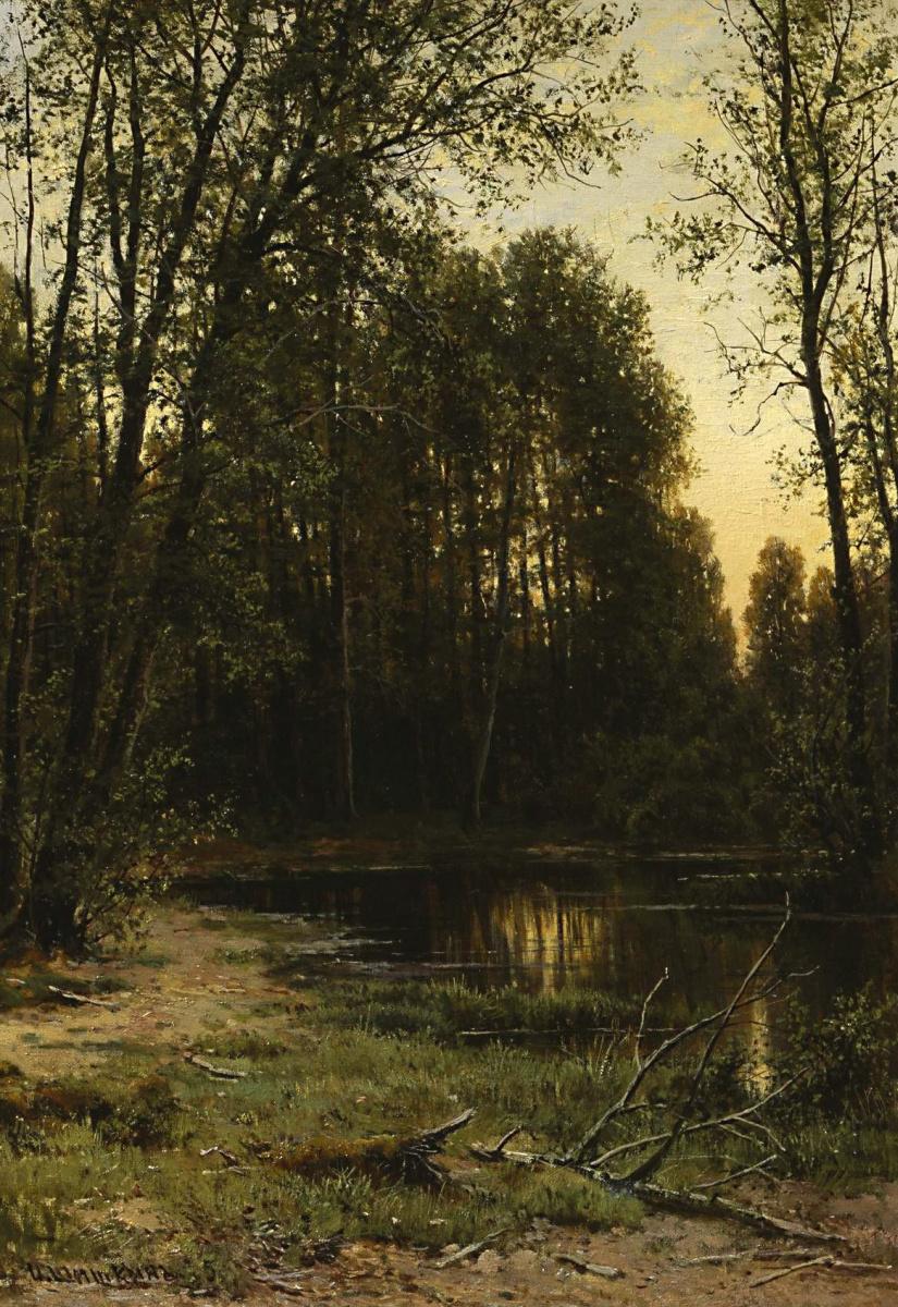Иван Иванович Шишкин. Речная заводь в лесу