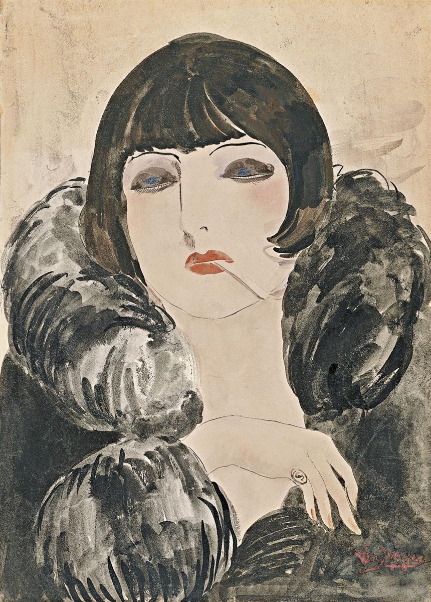 Кес Ван Донген. Портрет женщины с сигаретой (Кики де Монпарнас)