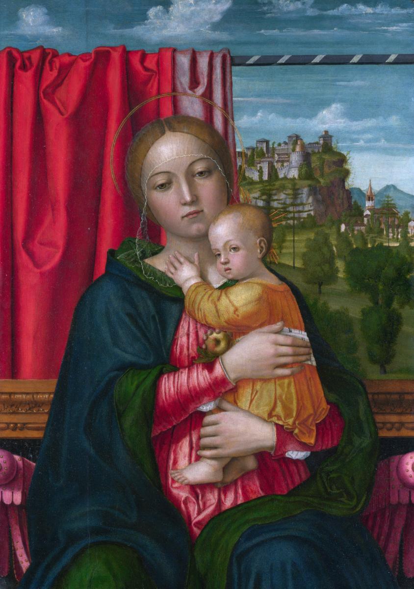 Франческо Мопон. Дева с младенцем