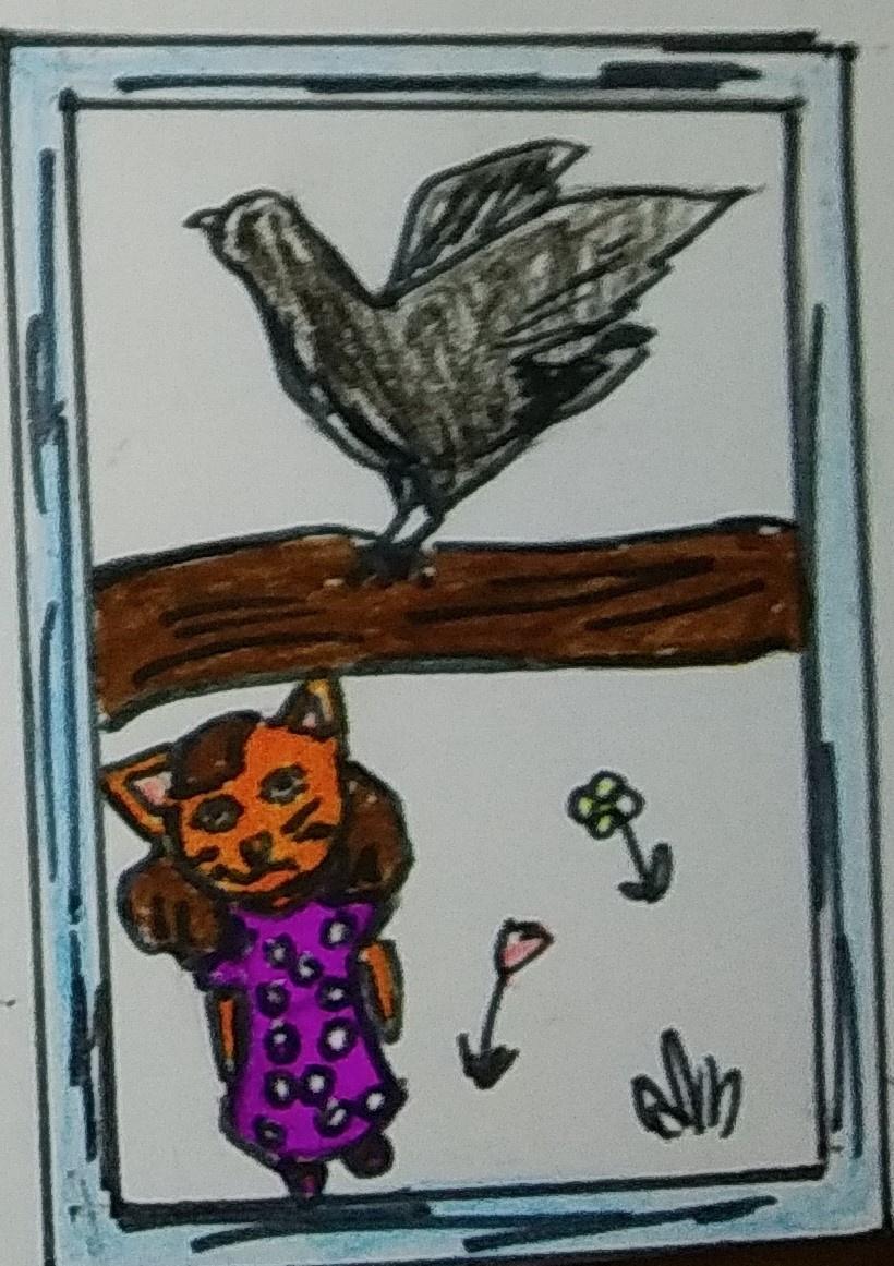 "Zina Vladimirovna Parisva. Illustrations for the tale ""The Story of the Little Cat"" 5"