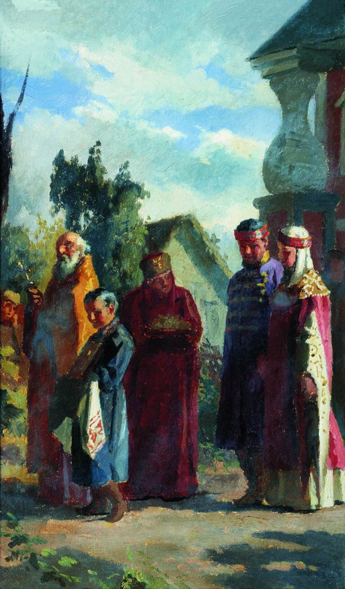 Nikolai Vasilyevich Nevrev. Wedding procession.
