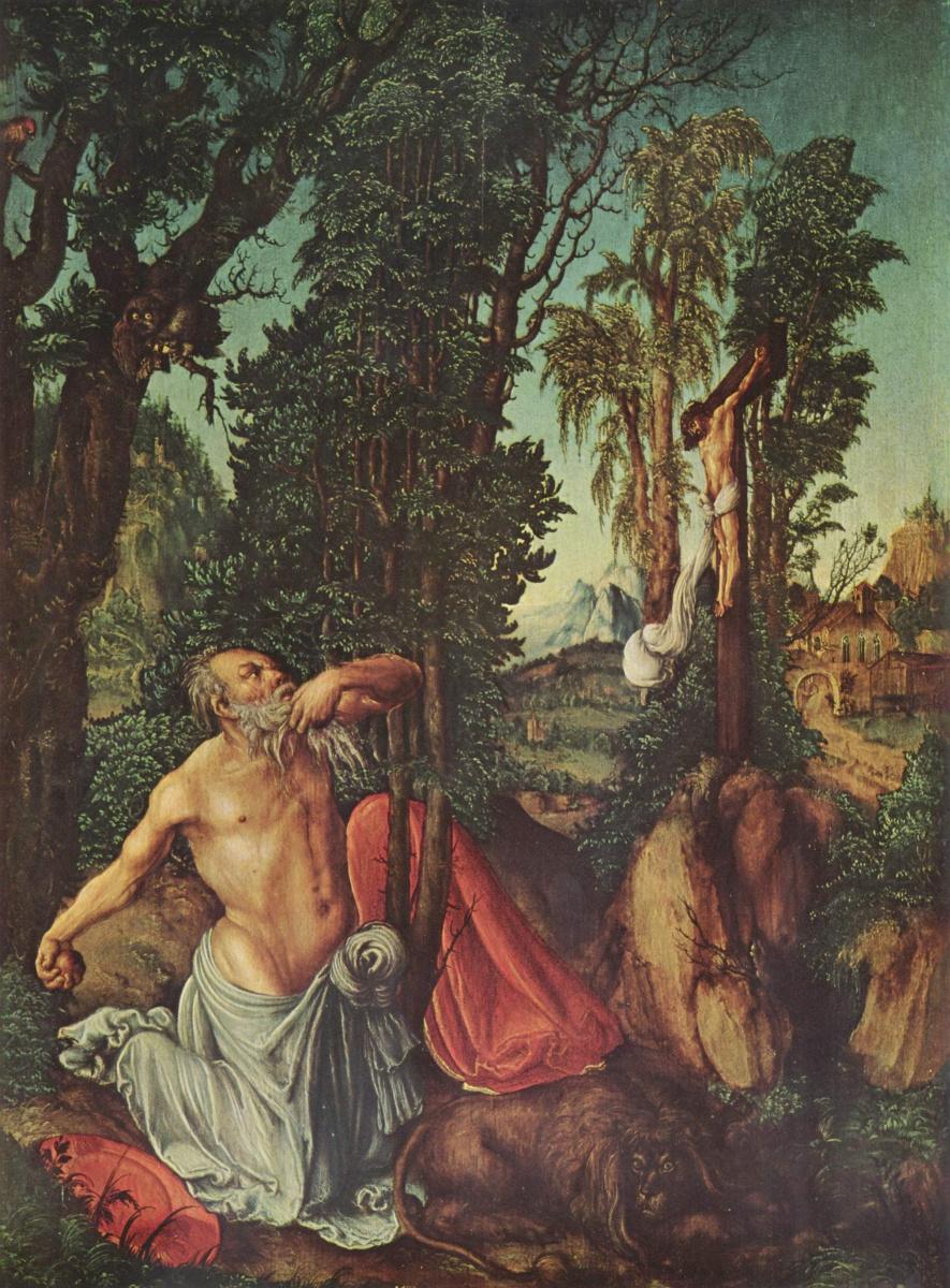 Лукас Кранах Старший. Покаяние св. Иеронима