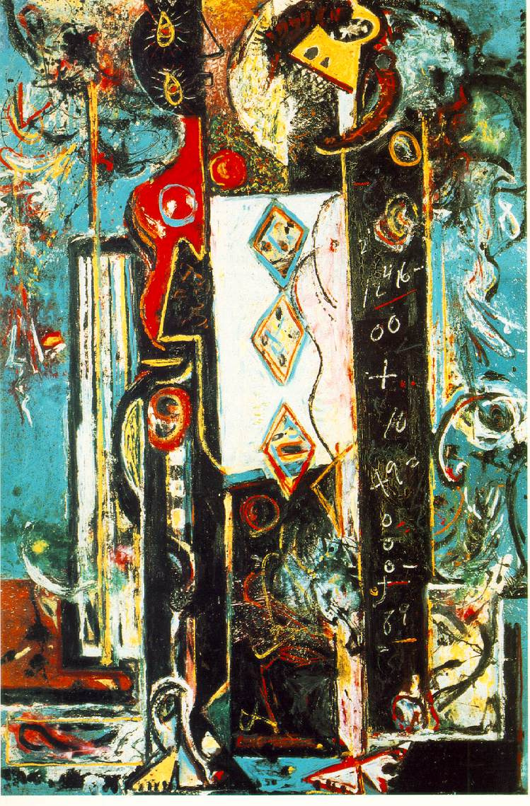 Jackson Pollock. A man and a woman
