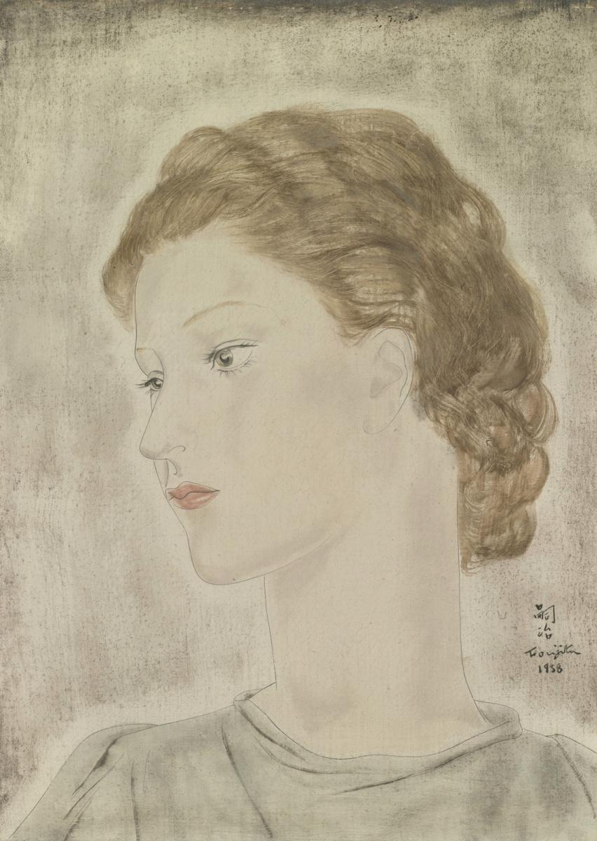 Цугухару Фудзита ( Леонар Фужита ). Портрет женщины со светлыми глазами