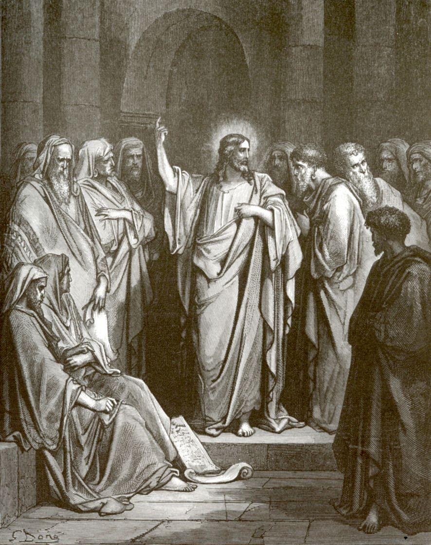 Поль Гюстав Доре. Иисус Христос в синагоге Назаретской