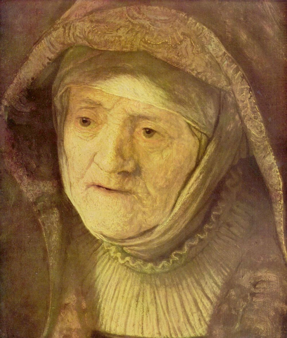 Рембрандт Харменс ван Рейн. Портрет матери, фрагмент