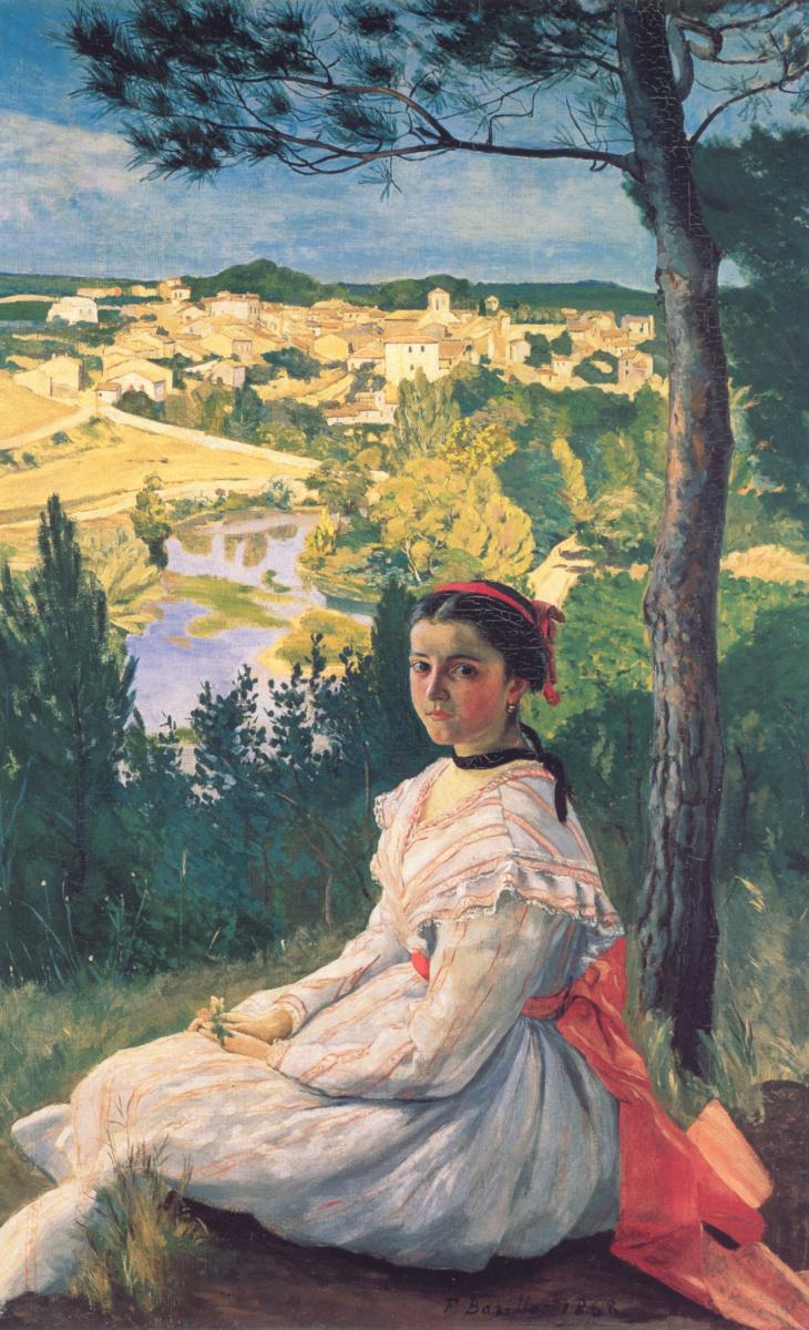 Фредерик Базиль. Вид на деревню