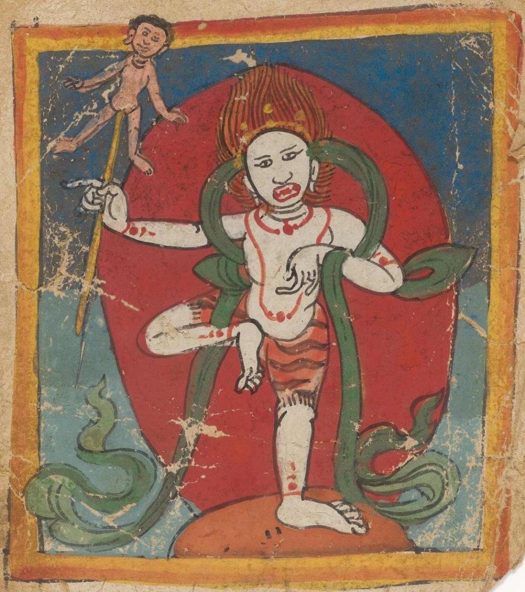 Unknown artist. The deity of the Tibetan Bon religion. Map 22