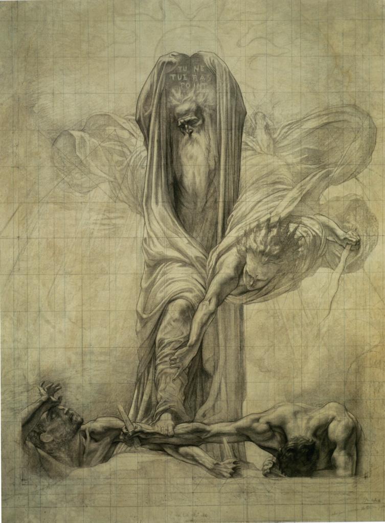 """Жан Дельвиль. Закон Моисея (Правосудие Моисея). Эскиз для цикла """"Правосудие"""""""