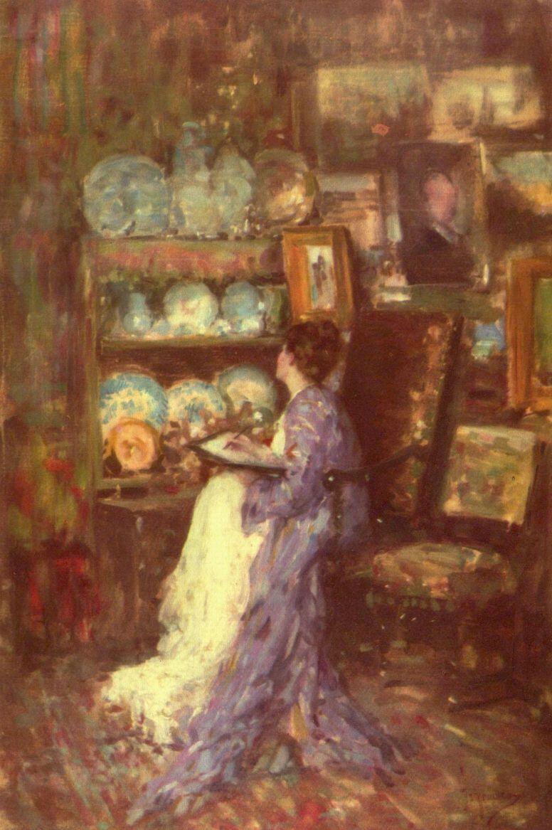 Nicolae Grigorescu. In the Studio