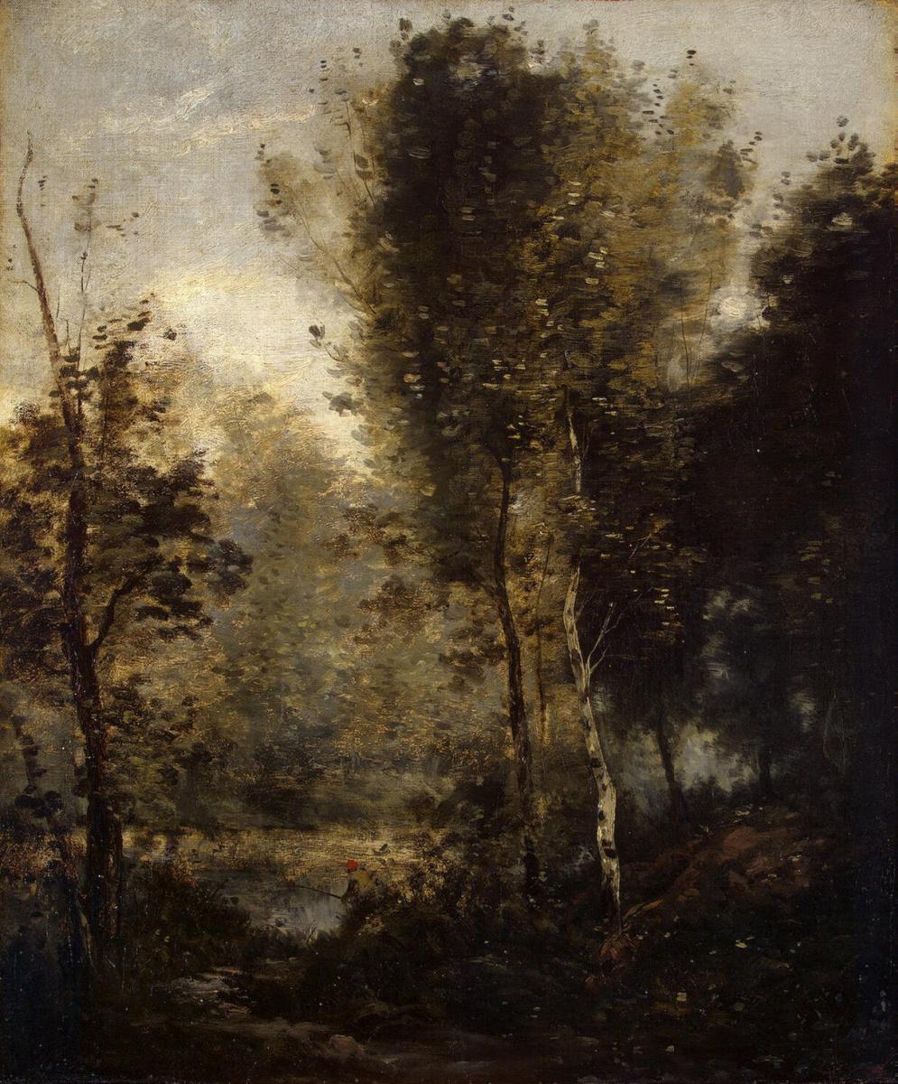 Камиль Коро. Пруд в лесной чаще