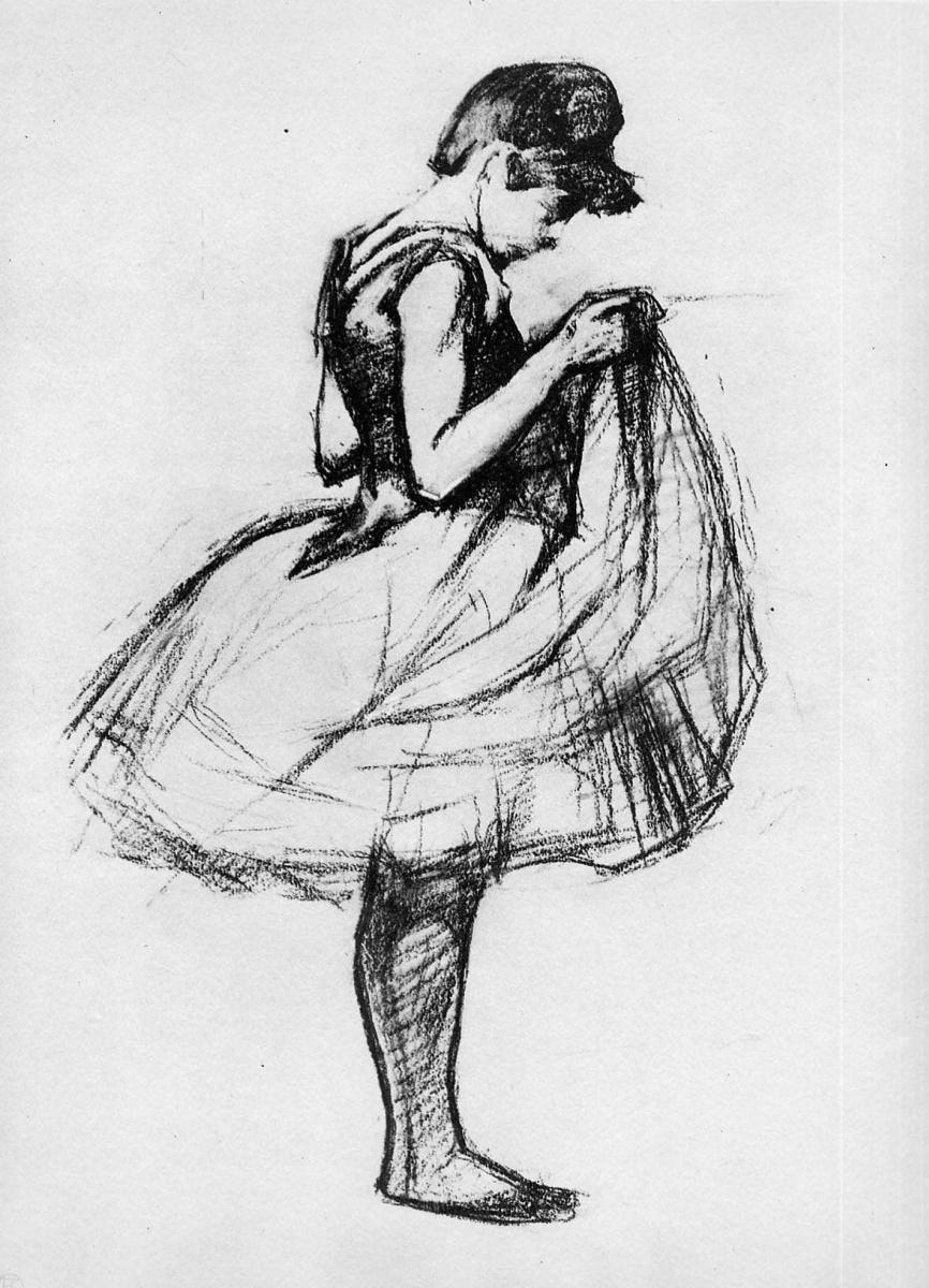 Анри де Тулуз-Лотрек. Танцовщица поправляет юбку