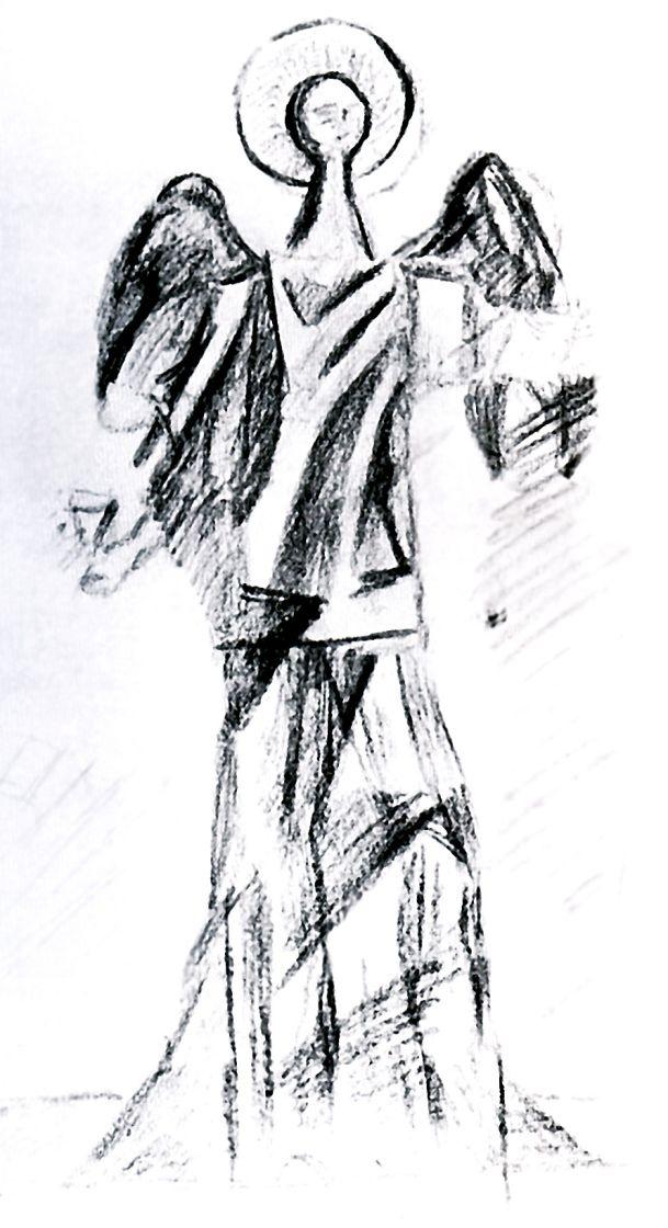 Петр Игнатьевич Бромирский. Ангел. Набросок неосуществленного памятника В. Сурикову
