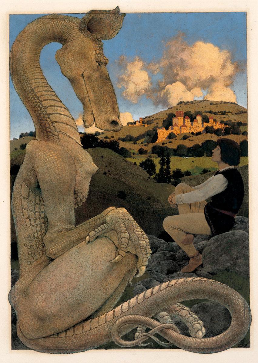 """Максфилд Пэрриш. """"Дневные сны"""". Упрямый дракон"""
