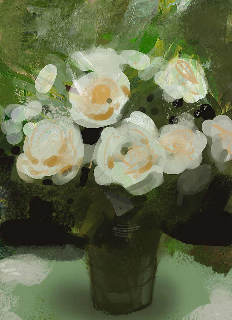 Craig Mullins. White flowers in a vase