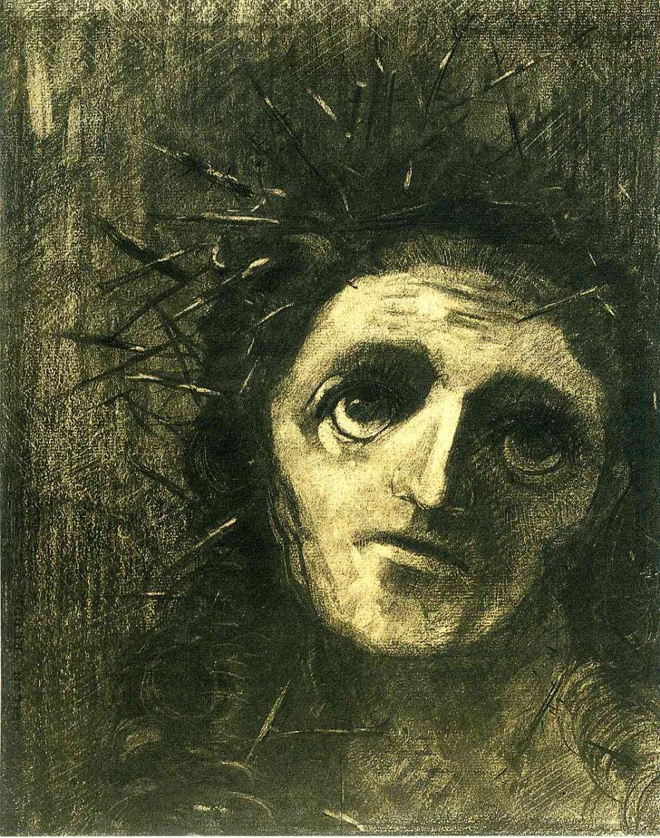 Одилон Редон. Терновый венок на голове
