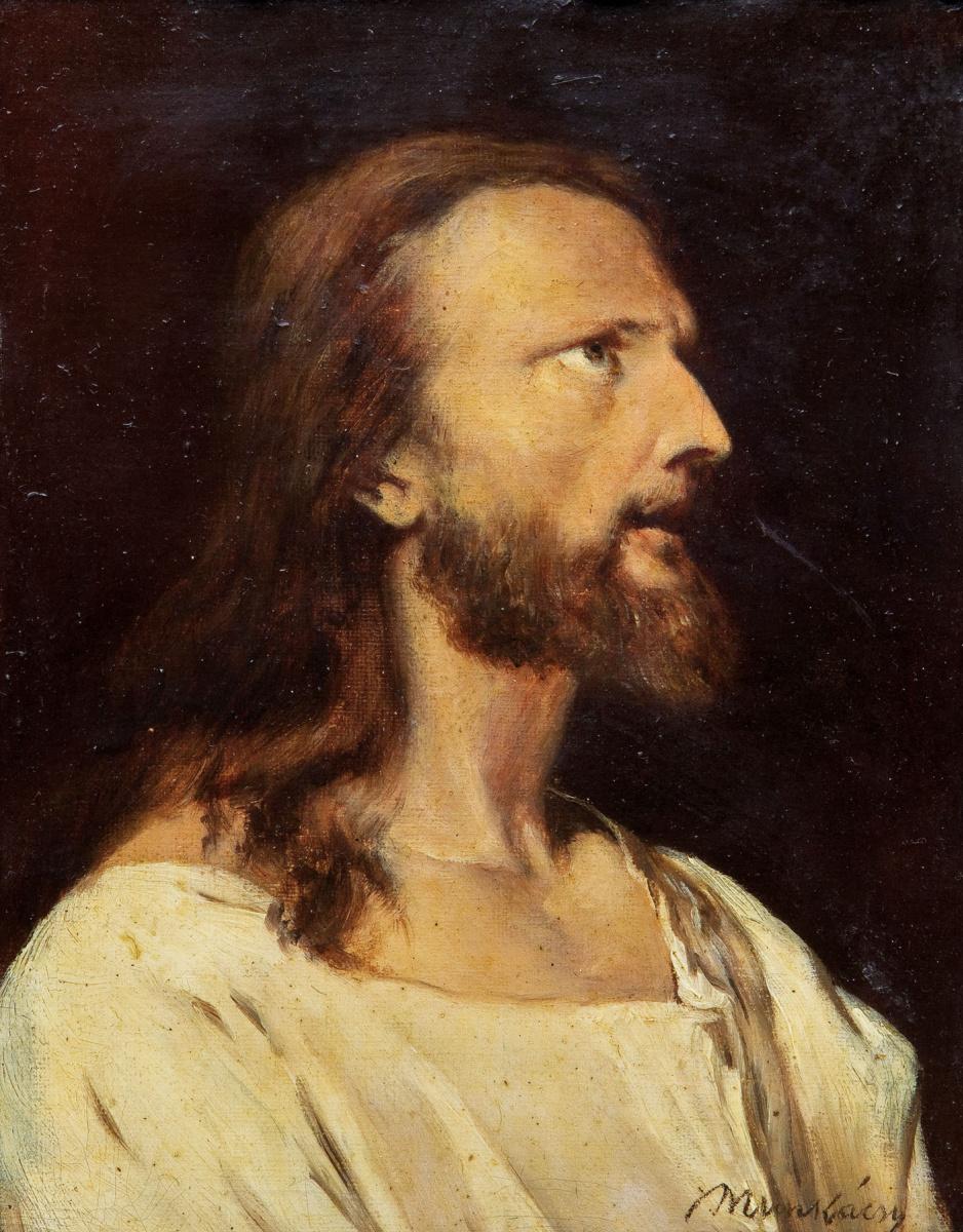 Михай Либ Мункачи. Портрет мужчин в светлом. Эскиз для изображения Христа