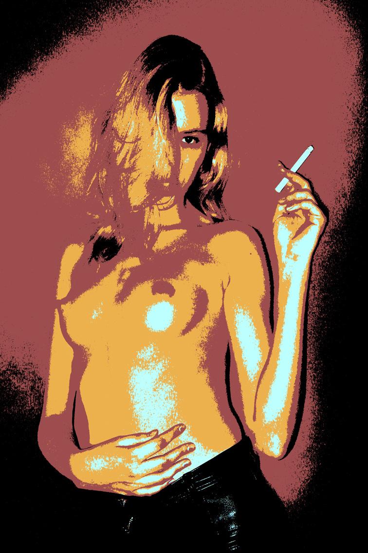 Nikolai Nikolayevich Sednin. Lady with a cigarette