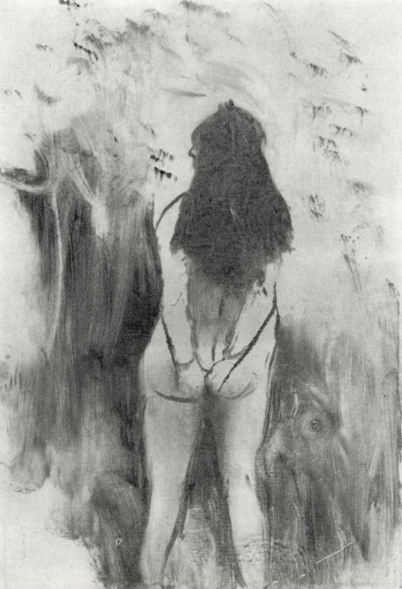 Эдгар Дега. Обнаженная женщина, фигура со спины