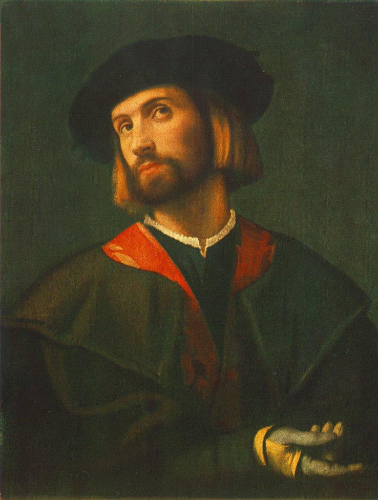 Лоренцо Лотто. Портрет мужчины. Будапешт