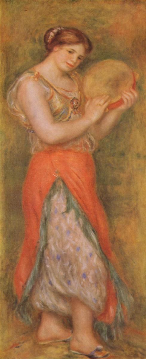 Пьер Огюст Ренуар. Танцовщица с тамбурином