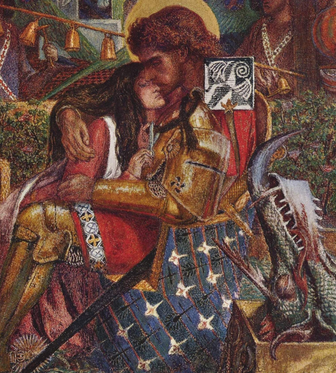 Dante Gabriel Rossetti. The wedding of Saint George and Princess Sabra. Fragment