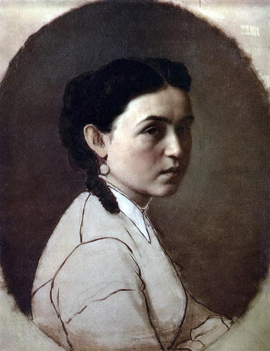 Василий Григорьевич Перов. Портрет Елены Эдмундовны Шейнс (Перовой)