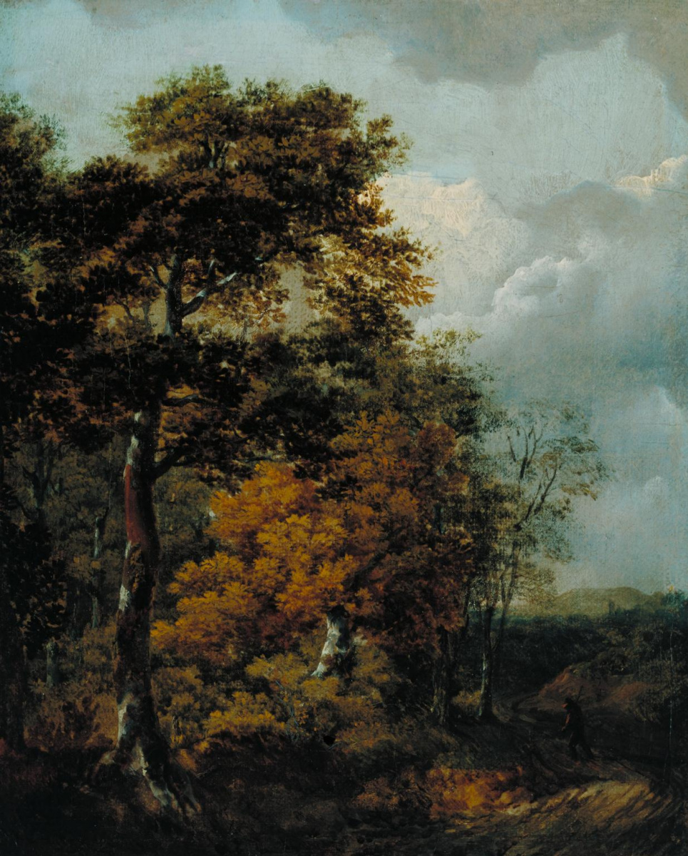 Thomas Gainsborough. Landscape with a peasant on the road
